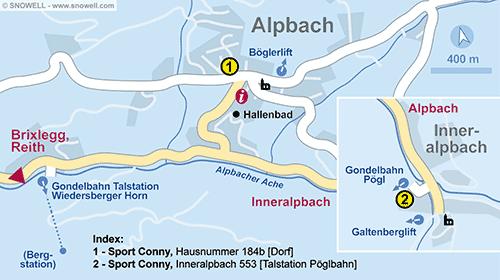 Lageplan Alpbach