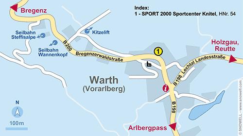Lageplan Warth