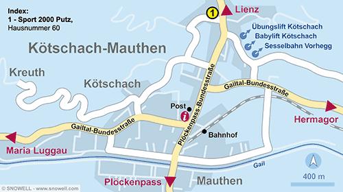 Lageplan Kötschach-Mauthen