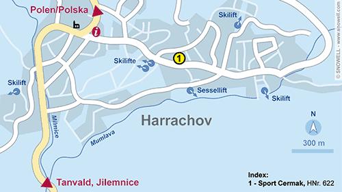 Lageplan Harrachov