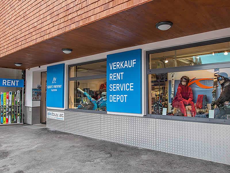 Verleihshop Sport Nenner, HNr. 794 - Talstation Gletscherbahn in Hintertux