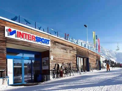 Verleihshop INTERSPORT - Silvretta Montafon, Schruns in Hochjoch/Zamangbahn Bergstation
