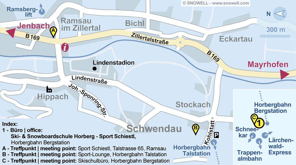 Ski- & Snowboardschule Horberg - Sport Schiestl in Schwendau, Horbergbahn Bergstation