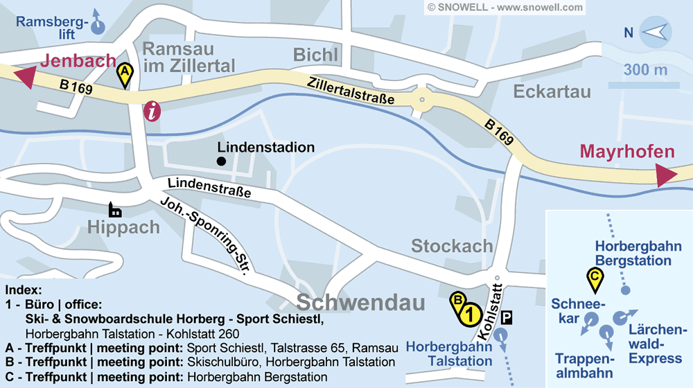 Ski- & Snowboardschule Horberg - Sport Schiestl in Schwendau, Horbergbahn Talstation - Kohlstatt 260