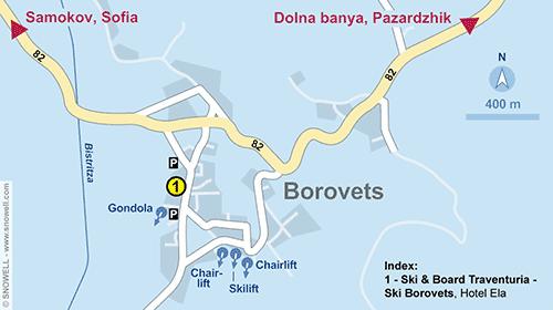 Lageplan Borovets