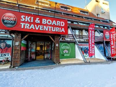 Verleihshop Ski & Board Traventuria - Ski Borovets, Borovets in Hotel Ela