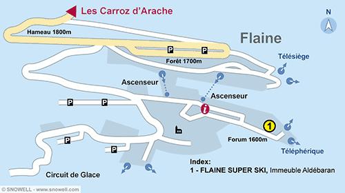 Lageplan Flaine