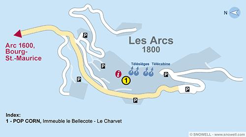 Resort Map Les Arcs 1800