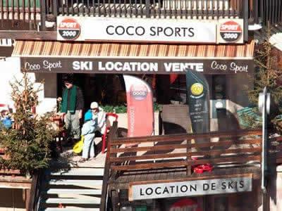 Ski hire shop COCO SPORT, Auris-en-Oisans in Immeuble Soldanelles Les Orgières