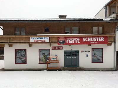 Verleihshop SPORT 2000 Schuster, Lermoos in Juch 1 [Parkplatz Grubiggondelbahn]