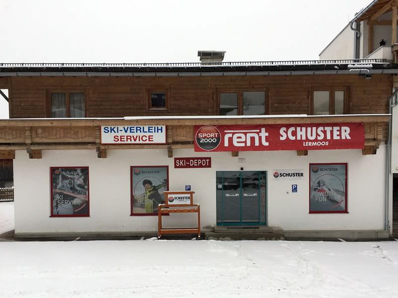 Verleihshop SPORT 2000 Schuster, Juch 1 [Parkplatz Grubiggondelbahn] in Lermoos