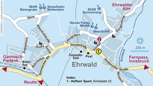 Lageplan Ehrwald