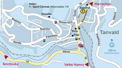 Lageplan Tanvald