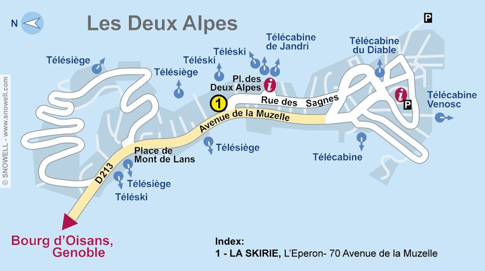 Ski hire shop LA SKIRIE, Les Deux Alpes in L'Eperon- 70 Avenue de la Muzelle