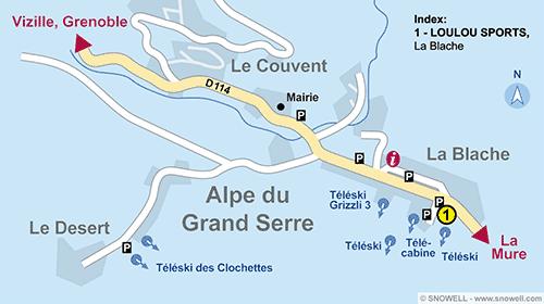 Lageplan Alpe du Grand Serre
