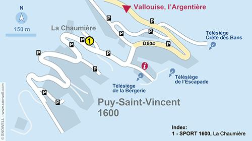 Lageplan Puy Saint Vincent 1600
