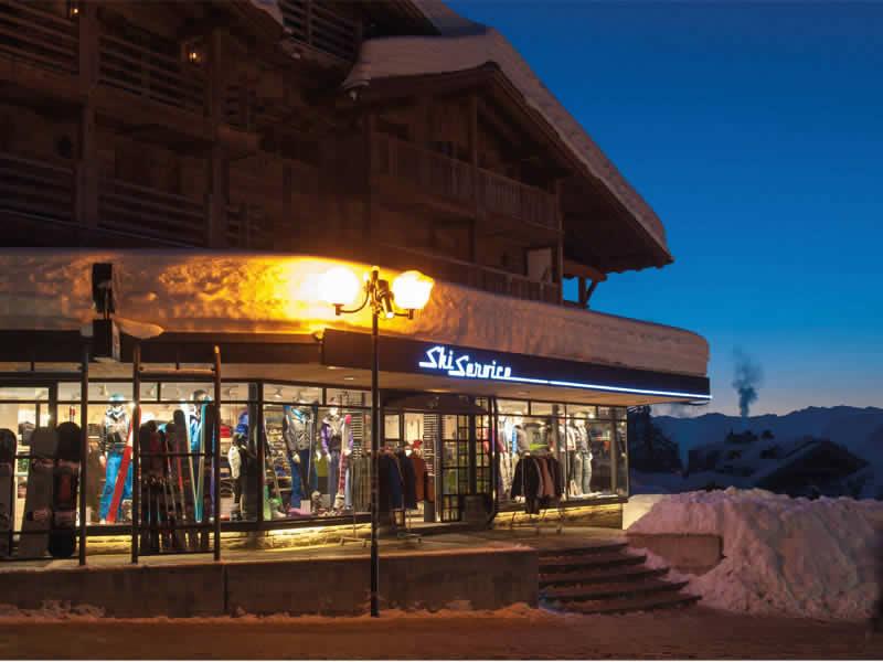 Verleihshop Ski Service, La Vallée Blanche in Verbier