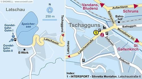 Lageplan Tschagguns
