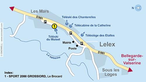Lageplan Lelex