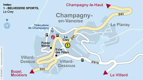 Resort Map Champagny en Vanoise
