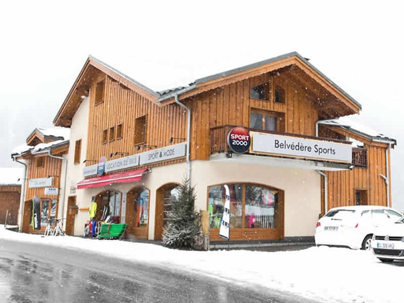 Ski hire shop BELVEDERE SPORTS, Champagny en Vanoise in Le Crey