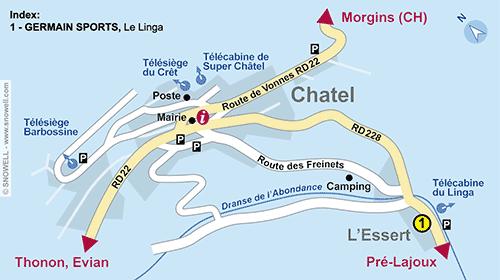 Lageplan Chatel