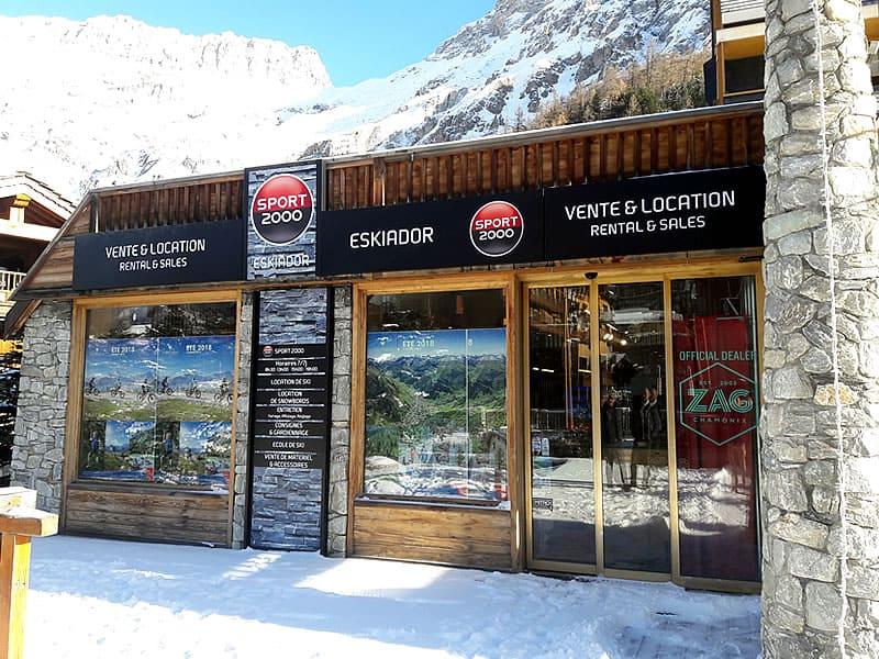 Verleihshop ESKIADOR, Le Portillo - Avenue Olympique in Val d Isere