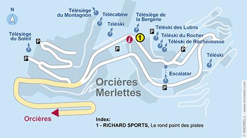 Lageplan Orcieres Merlettes