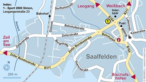 Lageplan Saalfelden