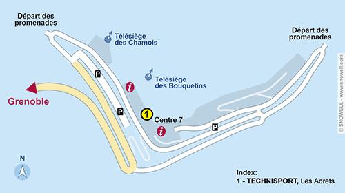 Resort Map Les 7 Laux-Prapoutel