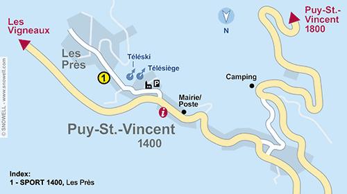 Lageplan Puy Saint Vincent 1400