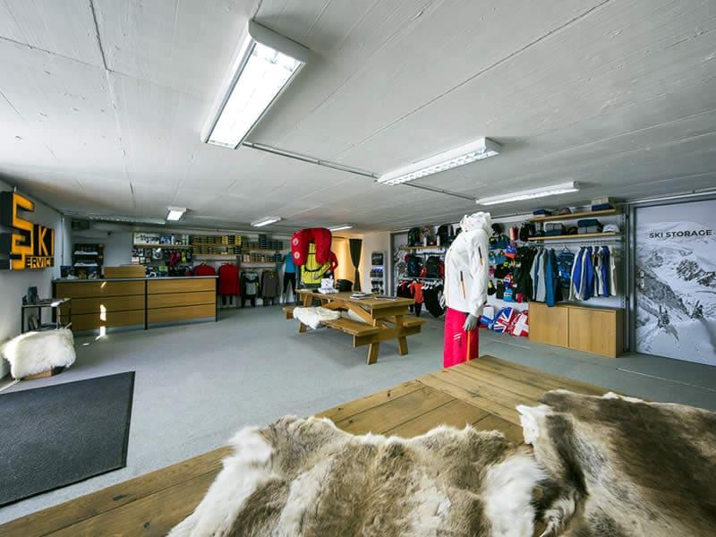Verleihshop Ski Service - Les Ruinettes, Les Ruinettes 2200 m [mountain shop] in Verbier
