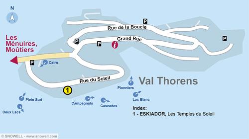Lageplan Val Thorens