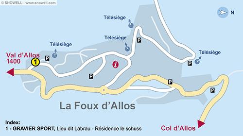Lageplan La Foux d'Allos
