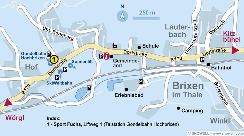 Verleihshop Sport Fuchs, Brixen im Thale in Liftweg 1 [Talstation Gondelbahn]