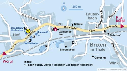 Lageplan Brixen im Thale