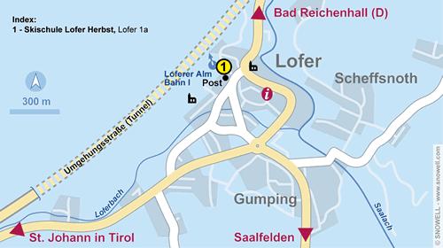 Lageplan Lofer