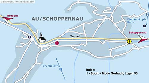 Lageplan Au/Schoppernau