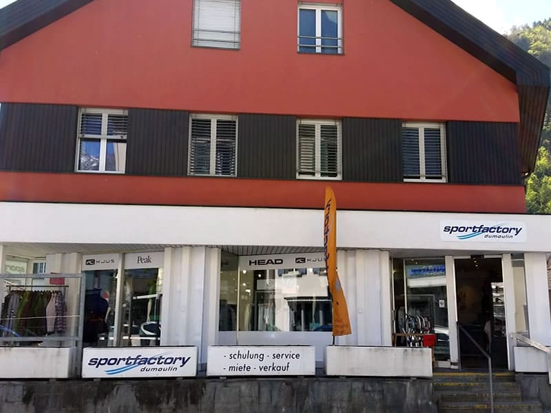 Verleihshop Sportfactory Dumoulin, Maienfelderstrasse 4 [in Bad Ragaz] in Wangs