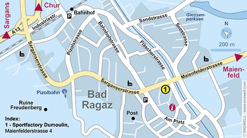 Lageplan Bad Ragaz