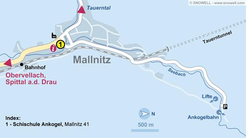 Lageplan Mallnitz