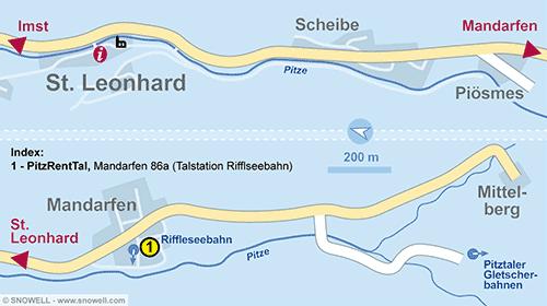Lageplan St. Leonhard / Pitztal