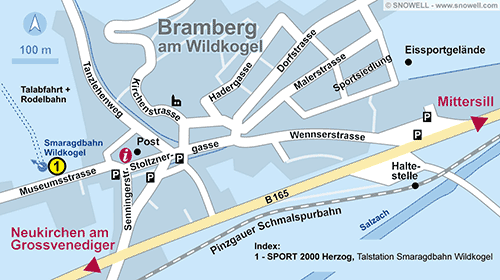 Lageplan Bramberg a. Wildkogel