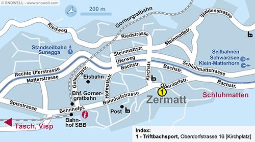 Lageplan Zermatt