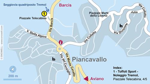 Lageplan Piancavallo
