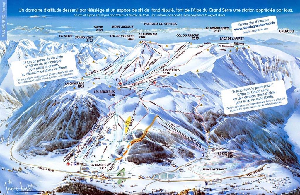 Skimap Alpe du Grand Serre