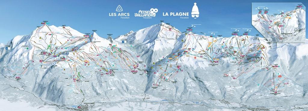 Skimap La Plagne - Montalbert