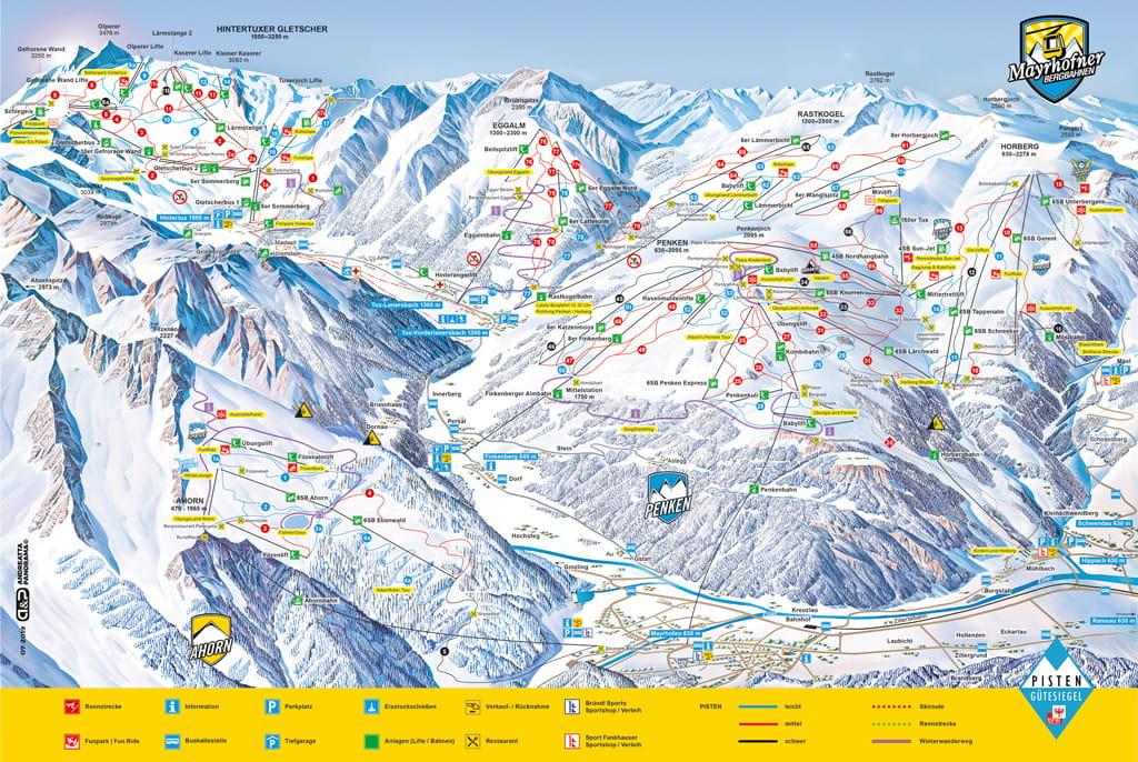Skimap Mayrhofen