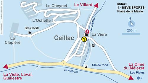 Lageplan Ceillac