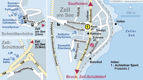 Lageplan Zell am See